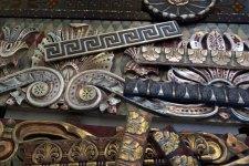 Polychromed, metal leafed, stenciled plaster ornament finishes
