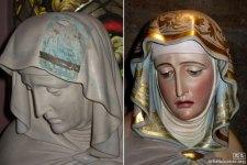 Pieta statue, for St. Helena Catholic Church in  California