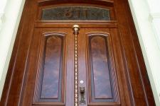 Redwood entrance doors