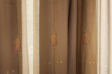 embroidered linen drapes