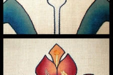 embroidered linen screen