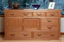 Hand-planed southern cypress tansu.