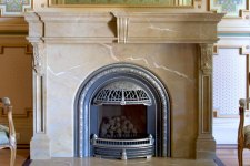 marbleized fireplace