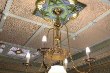 decoratively painted ceiling medallion