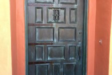 faux bronze door