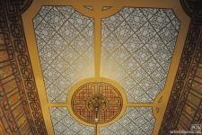 Stenciled ceiling in San Francisco Italianate