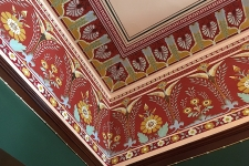 Frieze and ceiling painting detail