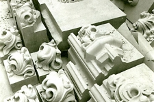 Hand-carved architectural elements