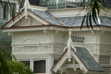 Victorian style cottage facade