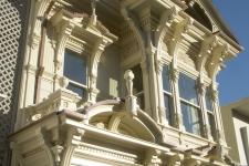 Victorian revival facade detail