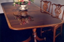 Mahogany Pedestal Dining Table Finishing