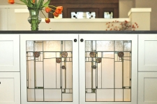 Mackintosh inspired cabinetry panels